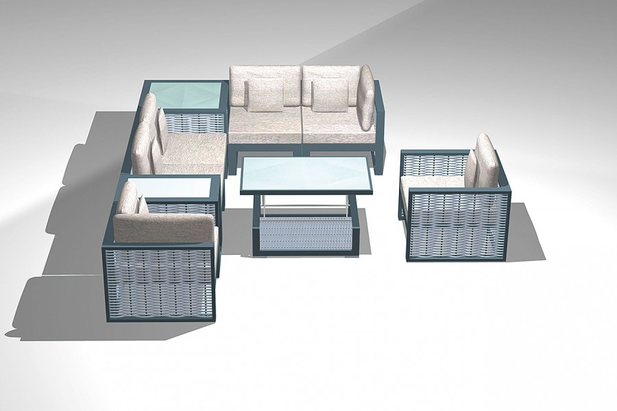 Modular Corner Lounge System Teodoro